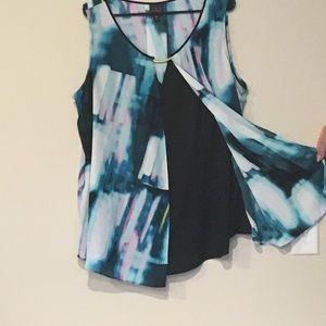 Beautiful Worthington layered sleeveless blouse